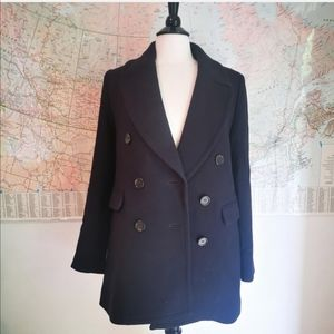 J.crew navy double wreasted peacoat